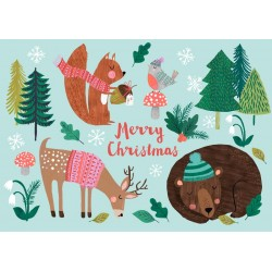 Carte Christmas Petit Monkey