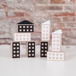 Happy Houses Black&White...