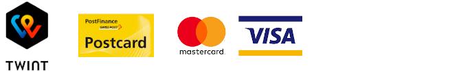 Visa, Mastercard, PayPal, Postcard